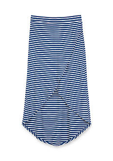 Amy Byer Chambray Striped Wrap Maxi Skirt Girls 7-16