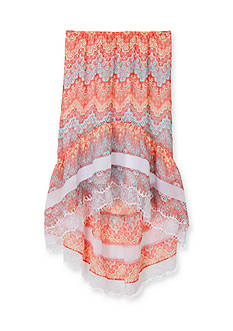 Amy Byer Printed Chiffon High Low Skirt Girls 7-16