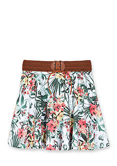 Amy Byer Tropical Print Knit Circle Skirt Girls 7-16