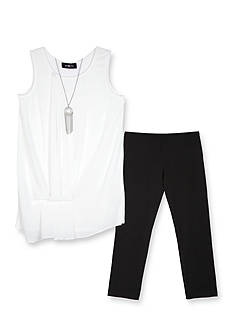 Amy Byer Chiffon Tank and Legging Set Girls 7-16