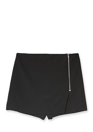 Amy Byer Mock Wrap Side Zipper Skort Girls 7-16