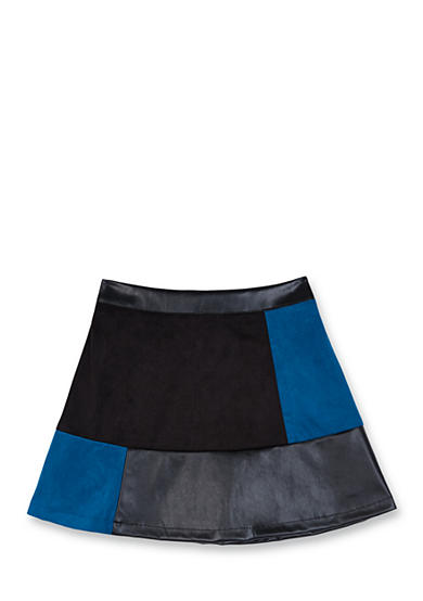 Amy Byer Patchwork Multi Fabric Skirt Girls 7-16
