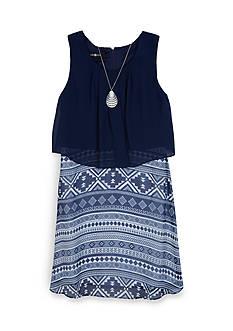 Byer California Tribal Print Popover Dress Girls 7-16
