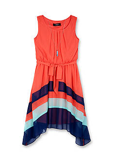 Amy Byer Colorblock Dress with Belt Girls 7-16