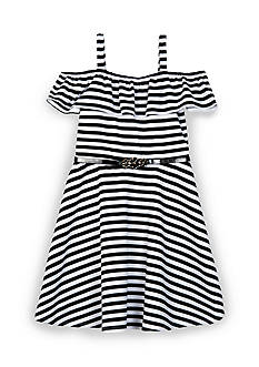 Amy Byer Off the Shoulder Stripe Dress Girls 7-16