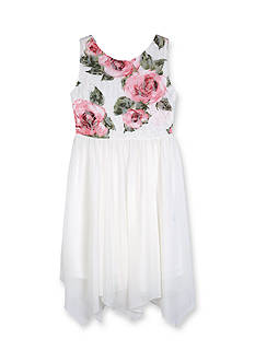 Amy Byer Printed Lace Dress Girls 7-16