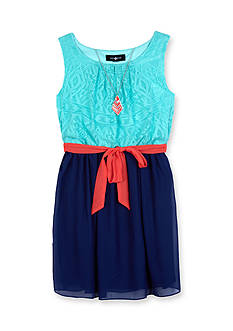 Amy Byer Tribal Lace Front Dress Girls 7-16
