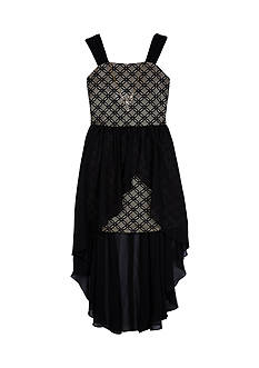 Amy Byer Jacquard Sheath Solid Overskirt Dress Girls 7-16