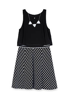 Amy Byer Popover Dress With Mitered Skirt Girls 7-16