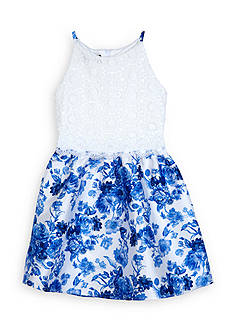 Amy Byer Lace and Floral Dress Girls 7-16