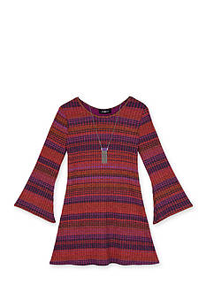 Amy Byer Girls 7-16 Stripe Knit Dress With Necklace