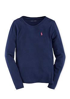 Ralph Lauren Childrenswear Long Sleeve Crewneck Tee Girls 4-6x