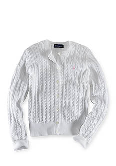 Ralph Lauren Childrenswear BSR CABLE CARDI WHITE