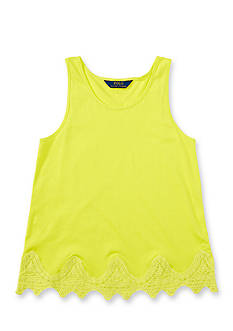 Ralph Lauren Childrenswear Lace Hem Tank Girls 4-6x
