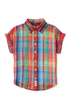 Ralph Lauren Childrenswear Plaid Shirt Girls 4-6x