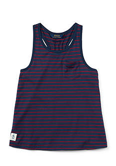 Ralph Lauren Childrenswear Jersey Stripe Tank Top Girls 4-6x