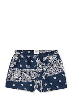 Ralph Lauren Childrenswear French Terry Bandana Shorts Girls 4-6x