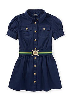 Ralph Lauren Childrenswear Cotton Twill Shirtdress Girls 4-6x
