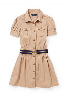 Ralph Lauren Childrenswear Cotton Twill Shirtdress Girls 4-6x