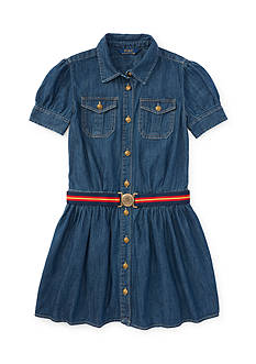 Ralph Lauren Childrenswear Denim Shirtdress Girls 4-6x