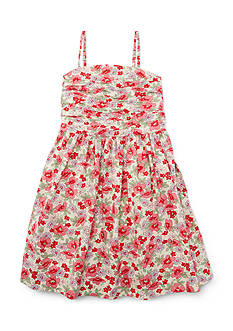 Linen Floral Sundress Girls 4-6x