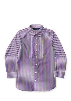 Ralph Lauren Childrenswear Striped Poplin Tunic Girls 4-6x