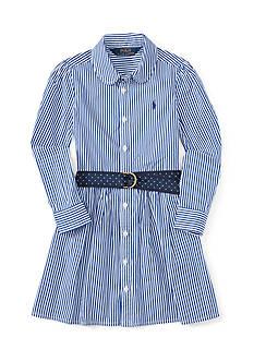 Ralph Lauren Childrenswear Bengal Stripe Dress Girls 4-6x