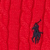 Little Girls Sweaters: Ultra Red Ralph Lauren Childrenswear Mini-Cable Cotton Cardigan Girls 4-6x