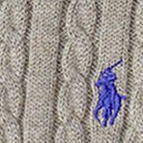 Little Girls Sweaters: Bleecker Heather Ralph Lauren Childrenswear Mini-Cable Cotton Cardigan Girls 4-6x