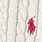 Little Girls Sweaters: Classic Cream Ralph Lauren Childrenswear Mini-Cable Cotton Cardigan Girls 4-6x