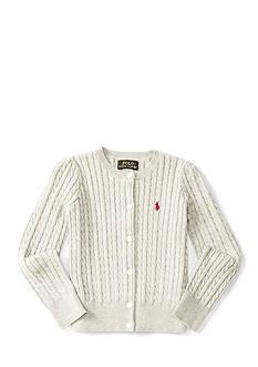 Ralph Lauren Childrenswear Mini-Cable Cotton Cardigan Girls 4-6x