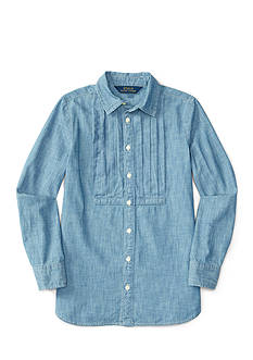 Ralph Lauren Childrenswear Chambray Shirt Girls 4-6x