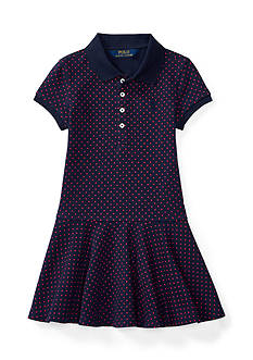 Ralph Lauren Childrenswear Polka Dot Polo Dress Girls 7-16