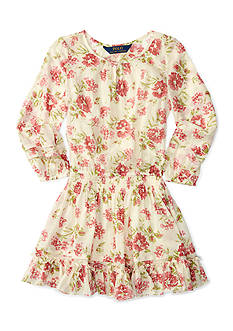 Ralph Lauren Childrenswear Chiffon Floral Dress Girls 4-6x