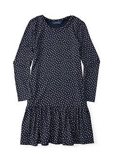 Ralph Lauren Childrenswear Jersey Floral Dress Girls 4-6x