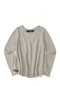 Ralph Lauren Childrenswear Bleecker Waffle Top Girls 4-6x