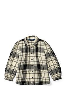 Ralph Lauren Childrenswear Plaid Cotton Twill Shirt Girls 4-6x