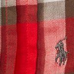 Baby & Kids: Long Sleeve Sale: Holiday Red/ Dark Grey Multi Ralph Lauren Childrenswear Plaid Cotton Twill Shirt Girls 4-6x