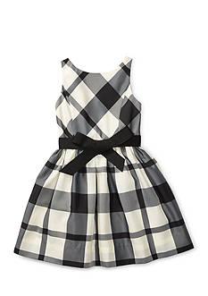 Ralph Lauren Childrenswear Plaid Taffeta Sleeveless Dress Girls 4-6x