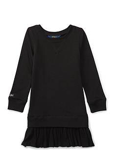 Ralph Lauren Childrenswear Fleece Long-Sleeve Dress Girls 4-6x