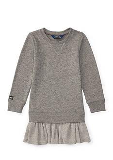 Ralph Lauren Childrenswear Ruffled-Hem Fleece Dress Girls 4-6x