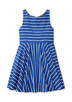 Ralph Lauren Childrenswear Striped Cotton Sateen Dress Girls 4-6x