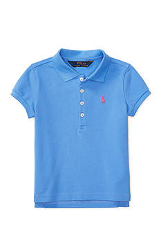 Ralph Lauren Childrenswear Stretch Mesh Short Sleeve Polo Girls 4-6x