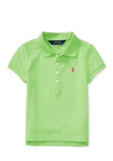 Ralph Lauren Childrenswear Mesh Short Sleeve Polo Girls 4-6x
