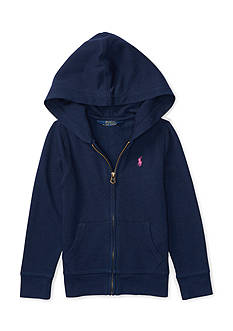 Ralph Lauren Childrenswear French Terry Full-Zip Hoodie Girls 4-6x
