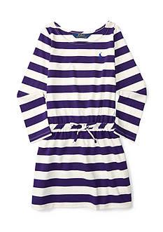 Ralph Lauren Childrenswear Jersey Stripe Dress Girls 4-6x