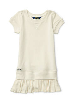 Ralph Lauren Childrenswear Terry Knit Fleece Dress Girls 4-6x