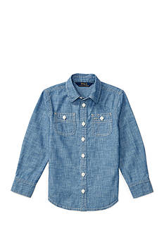 Ralph Lauren Childrenswear Cotton Chambray Shirt Girls 4-6x
