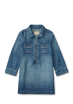 Ralph Lauren Childrenswear Lace-Up Denim Shirtdress Girls 4-6x