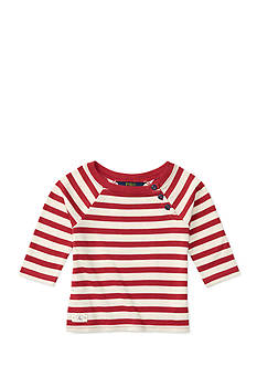 Ralph Lauren Childrenswear Striped Pima Boatneck Top Girls 4-6x